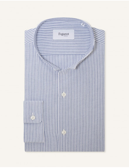 Chemise Gaston Contemporaine en oxford rayé marine