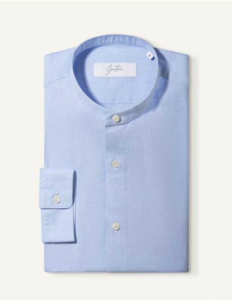 Chemise Contemporaine Gaston en popeline bleue