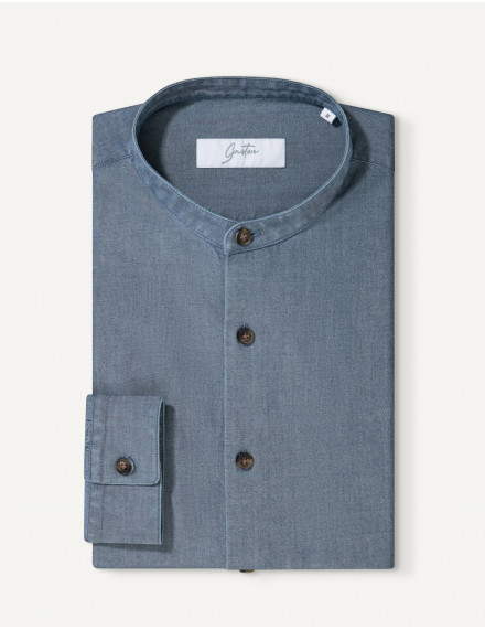 Chemise Contemporaine Gaston en chambray marine