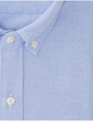 Chemise Contemporaine en Oxford bleue