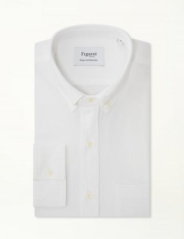 Chemise Contemporaine en Oxford blanc