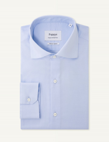 Chemise « X-Thermotech » Contemporaine en oxford bleue