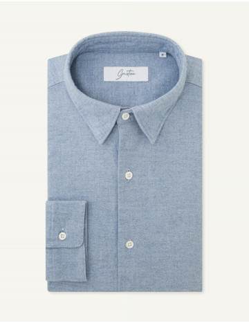 Chemise Gaston Contemporaine en twill bleu
