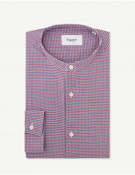 Chemise Contemporaine en oxford à carreaux rouges
