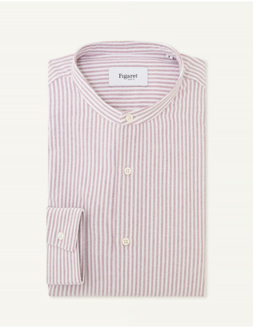 Chemise Contemporaine en oxford rayé bordeaux